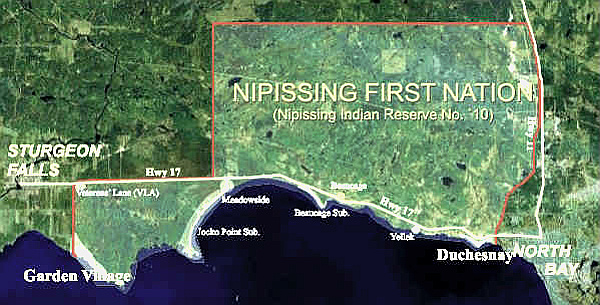 Nipissing'FirstNation'map