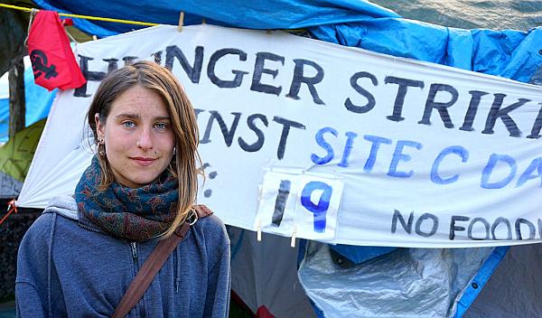 'Site C' protester Kristin Henry. Photo by Elizabeth McSheffrey