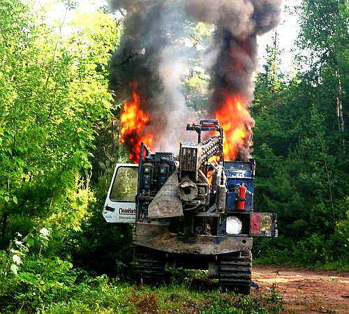 Fracking equipment set ablaze in Elsipogtog