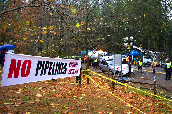 Kinder Morgan Burnaby protest (DARRYL DYCK - THE CANADIAN PRESS)