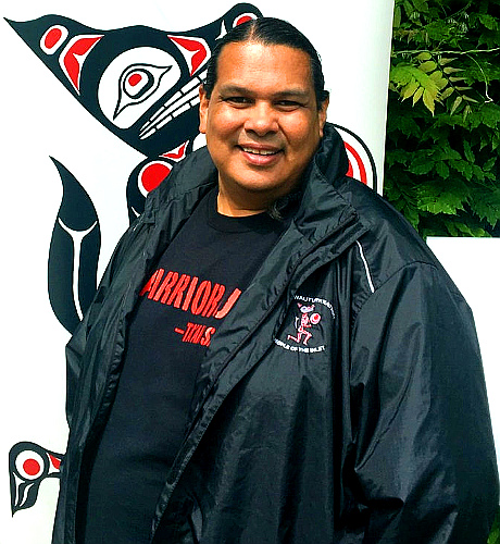 Tsleil-Waututh spokesperson and hypocrite Rueben George in his petroleum-product windbreaker. (Photo by Elizabeth McSheffrey-National Observer)