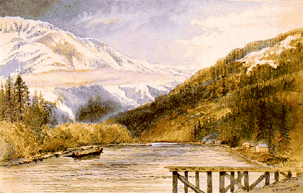 Mouth of Homathko River, Bute Inlet (Frederick Whymper, ca. 1837-1901)