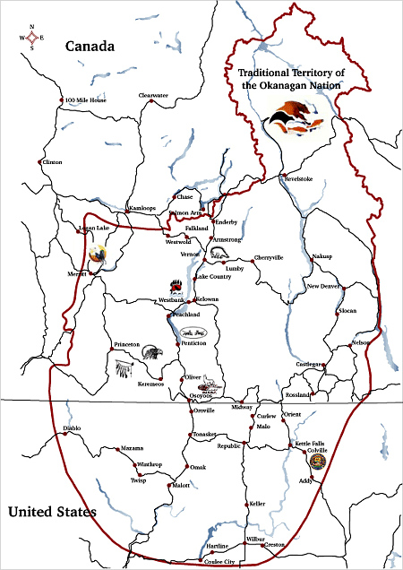 Claimed'TraditionalTerritory'--Okanagan'Nation'